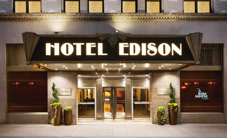 Hotel Edison New York frente de hotel